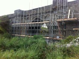 Laois Scaffolding Bridge Reconstruction